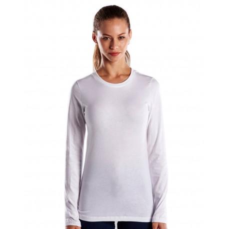 US190 US Blanks US190 Ladies' 4.3 oz. Long-Sleeve Crewneck WHITE