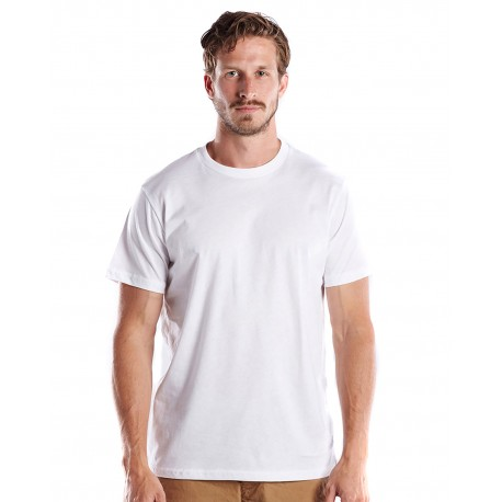 US2000 US Blanks US2000 Men's Made in USA Short Sleeve Crew T-Shirt WHITE