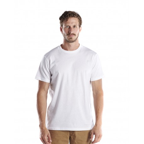 US200OR US Blanks US200OR Men's 5.8 oz. Short-Sleeve Organic Crewneck WHITE