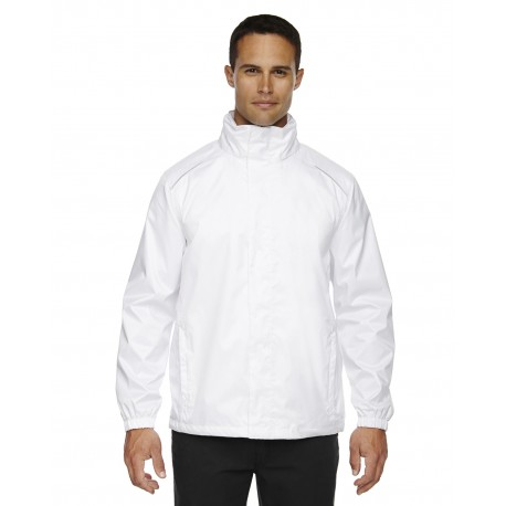 88185 Core 365 88185 Men's Climate Seam-Sealed Lightweight Variegated Ripstop Jacket WHITE 701