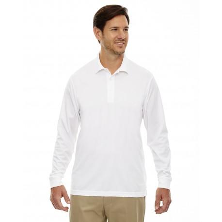 88192T Core 365 88192T Men's Tall Pinnacle Performance Long-Sleeve Pique Polo WHITE 701