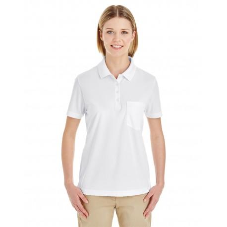 78181P Core 365 78181P Ladies' Origin Performance Pique Polo with Pocket WHITE 701
