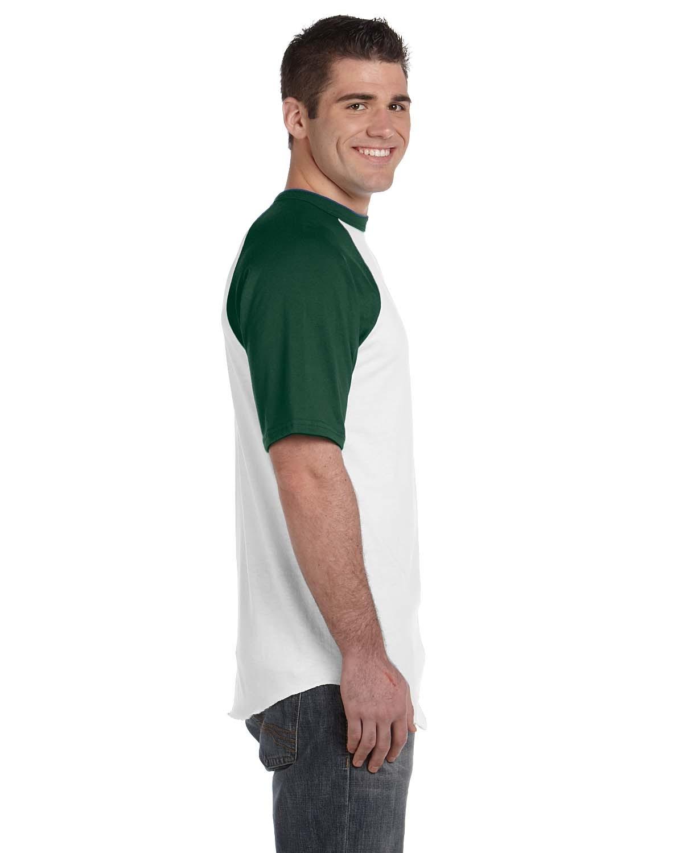 423 Augusta Sportswear WHITE/DRK GREEN