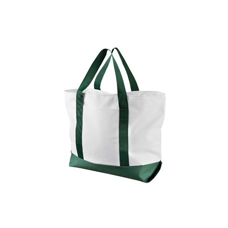 7006 Liberty Bags 7006 Bay View Giant Zippered Boat Tote WHITE/FOREST
