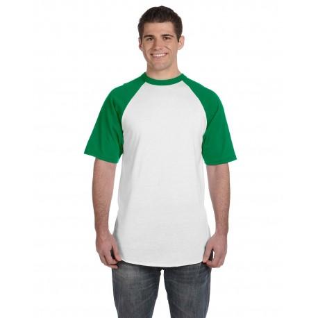 423 Augusta Sportswear 423 Adult Short-Sleeve Baseball Jersey WHITE/KELLY