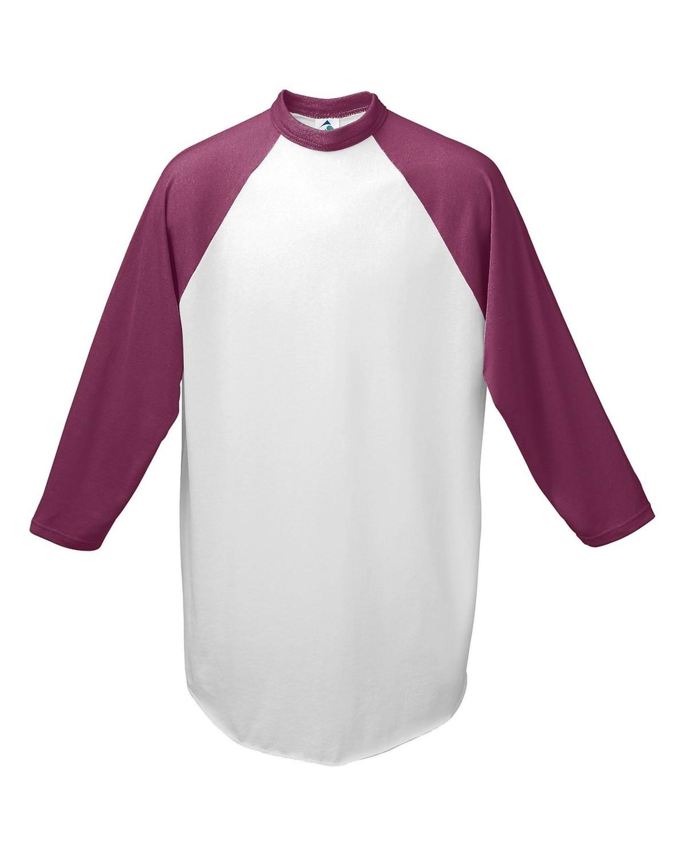 AG4420 Augusta Sportswear WHITE/MAROON
