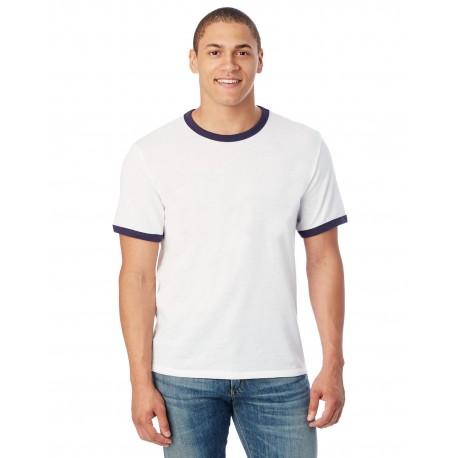 5103BP Alternative 5103BP Unisex Keeper Ringer T-Shirt WHITE/NAVY
