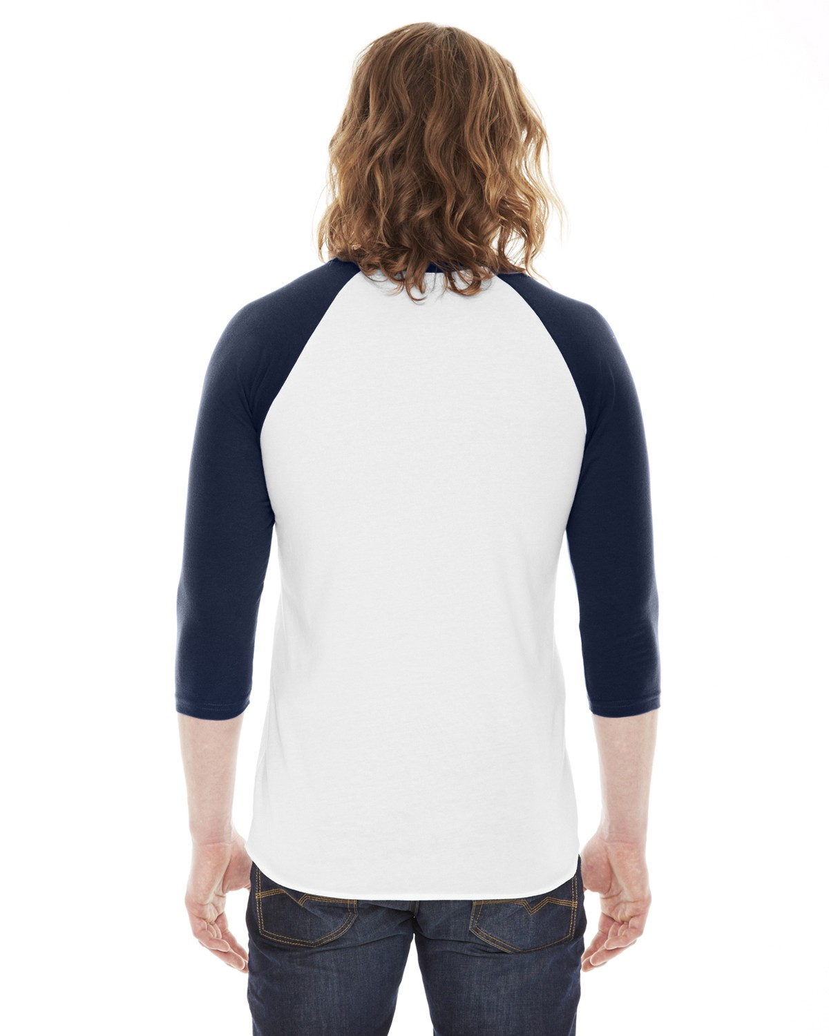 BB453W American Apparel WHITE/NAVY