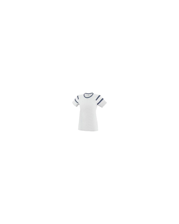 3011 Augusta Sportswear WHITE/NVY/WHT
