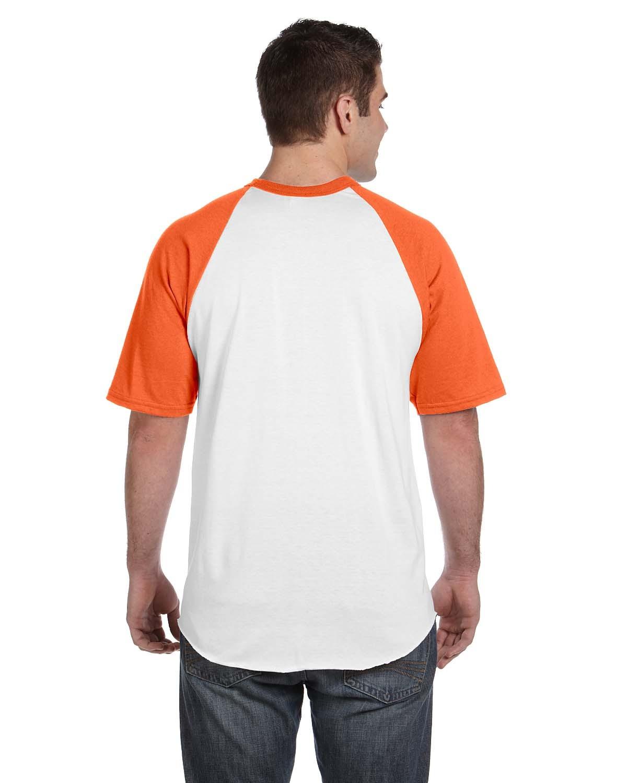 423 Augusta Sportswear WHITE/ORANGE