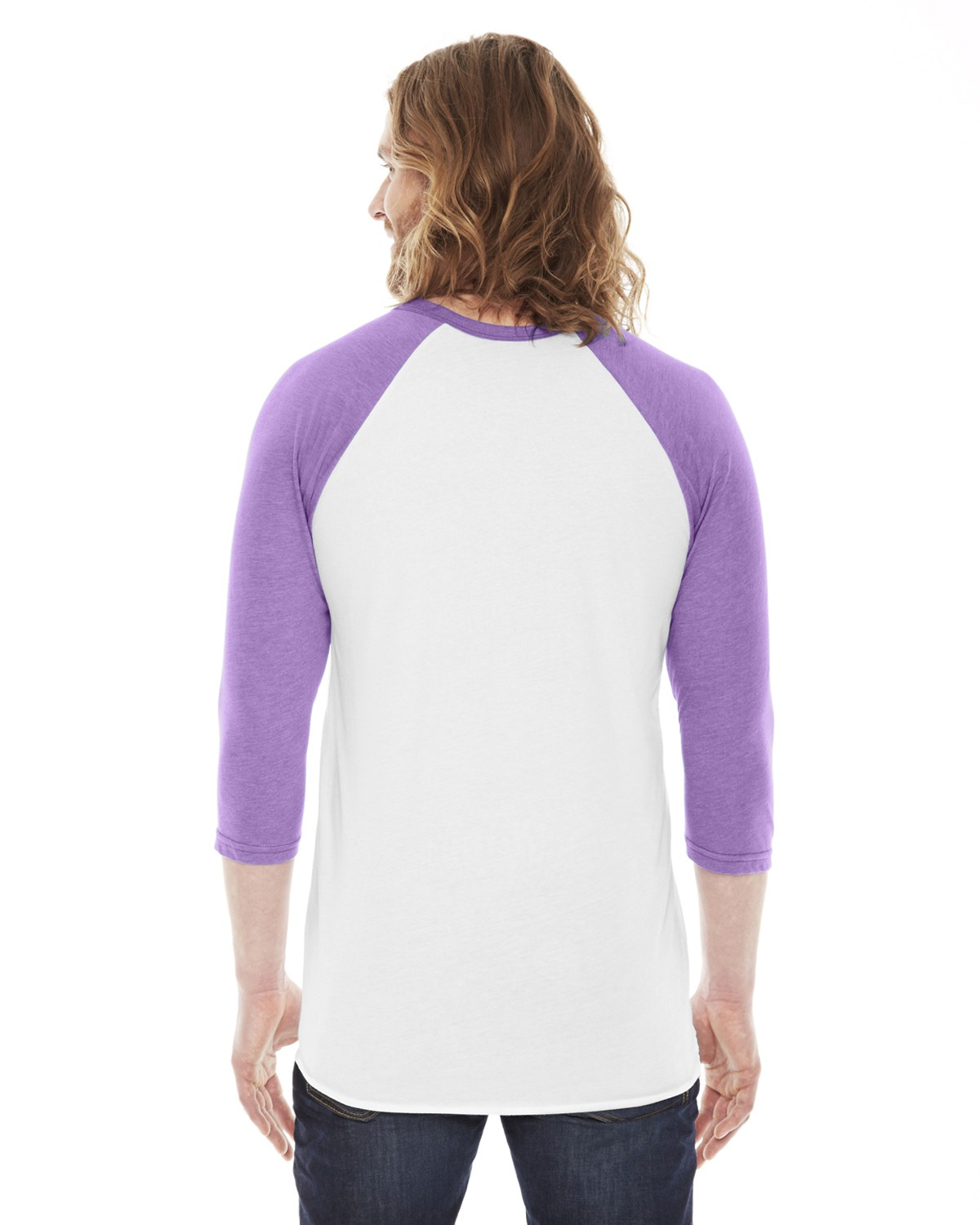 BB453W American Apparel WHITE/ORCHID