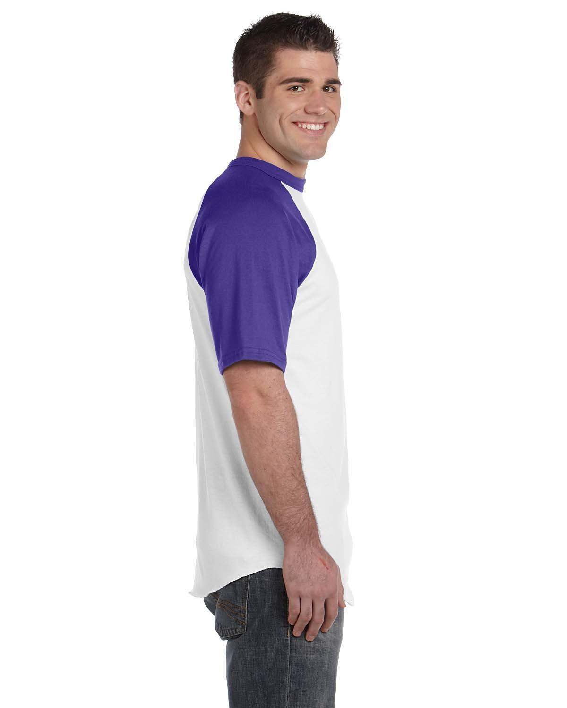 423 Augusta Sportswear WHITE/PURPLE