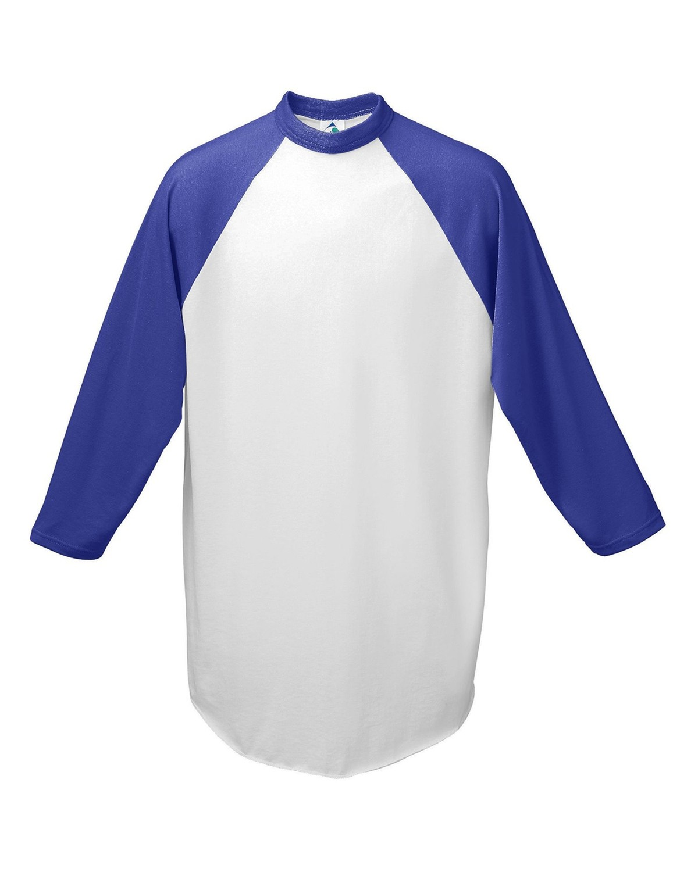 AG4420 Augusta Sportswear WHITE/PURPLE