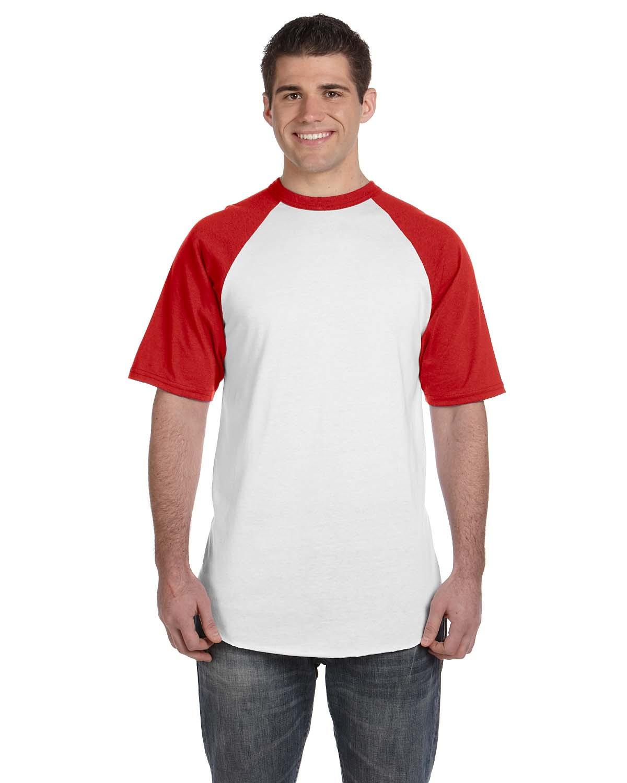 423 Augusta Sportswear WHITE/RED