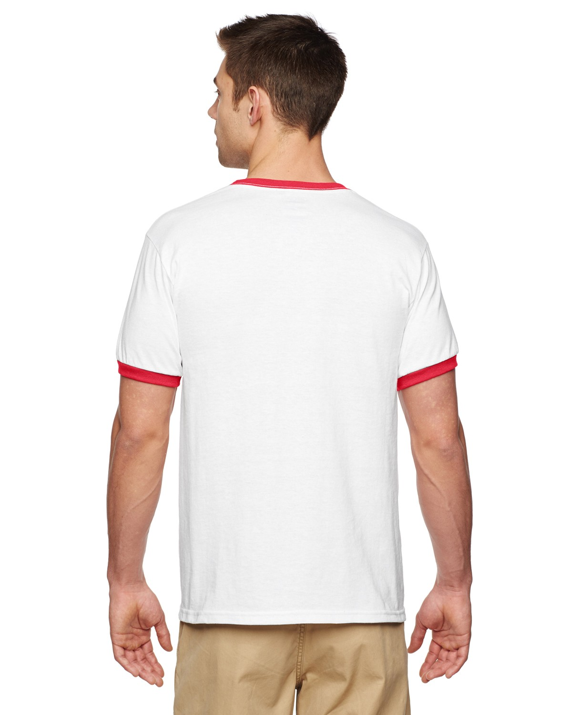 G860 Gildan WHITE/RED