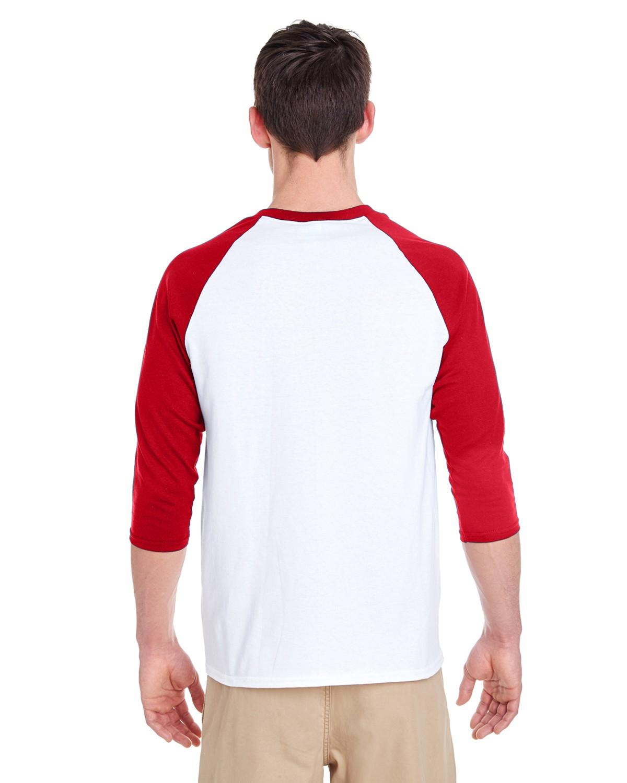 G570 Gildan WHITE/RED
