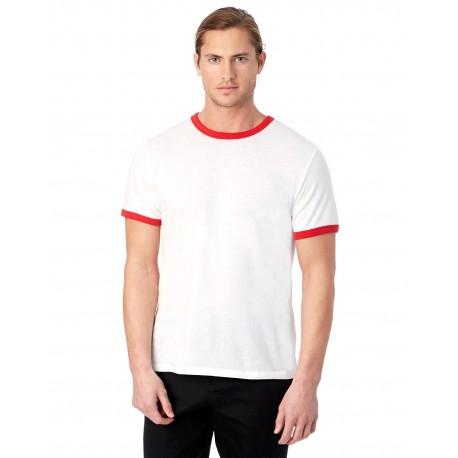 5103BP Alternative 5103BP Unisex Keeper Ringer T-Shirt WHITE/RED