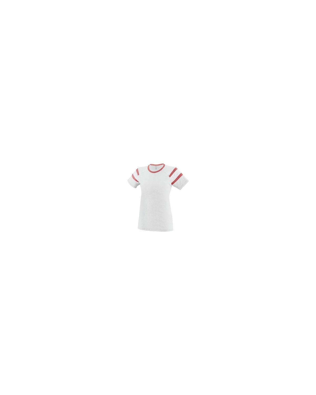 3011 Augusta Sportswear WHITE/RED/WHT