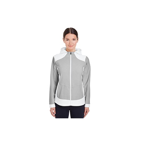 TT94W Team 365 TT94W Ladies' Rally Colorblock Microfleece Jacket WHITE/SP SILVER
