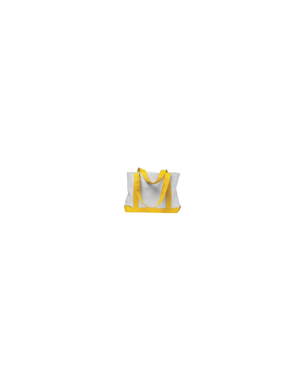 7002 Liberty Bags WHITE/YELLOW