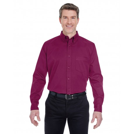 8975 UltraClub 8975 Men's Whisper Twill WINE