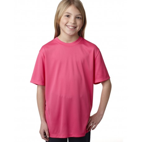 482Y Hanes 482Y Youth Cool DRI with FreshIQ Performance T-Shirt WOW PINK