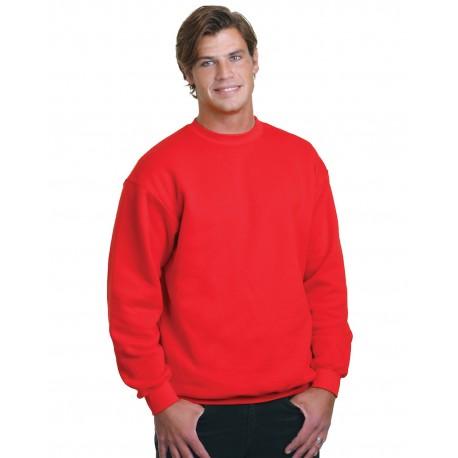 BA1102 Bayside BA1102 Adult Crewneck Fleece RED