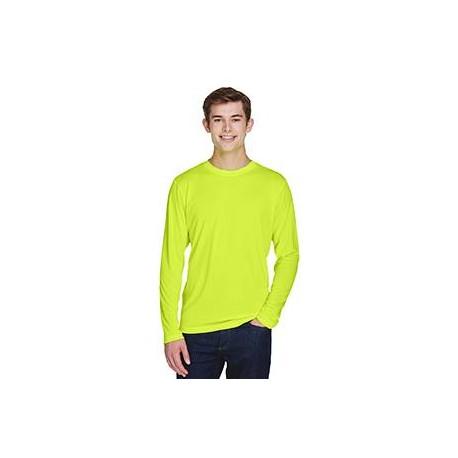 TT11L Team 365 TT11L Men's Zone Performance Long-Sleeve T-Shirt SAFETY YELLOW