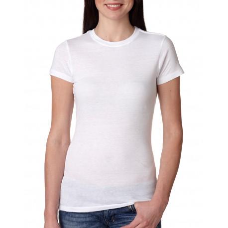4990 Bayside 4990 Ladies' 4.2 oz., 100% Ring-Spun Cotton Jersey T-Shirt WHITE