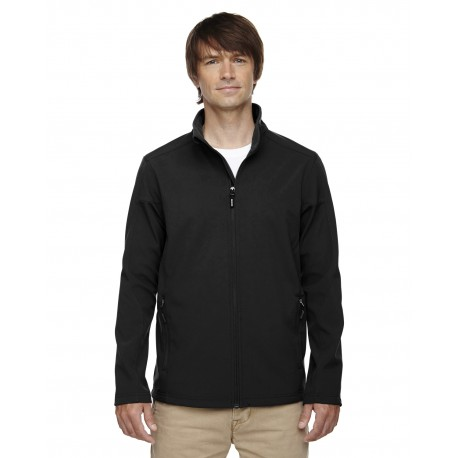 88184 Core 365 88184 Men's Cruise Two-Layer Fleece Bonded Soft Shell Jacket BLACK 703