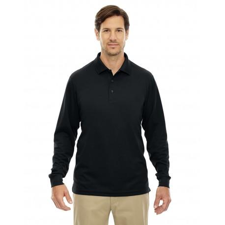 88192T Core 365 88192T Men's Tall Pinnacle Performance Long-Sleeve Pique Polo BLACK 703