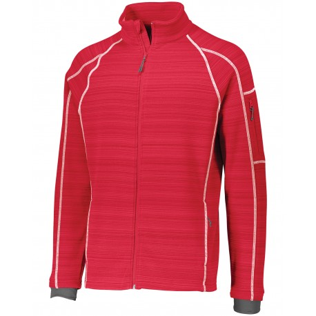229539 Holloway 229539 Unisex Dry-Excel Deviate Bonded Polyester Jacket SCARLET