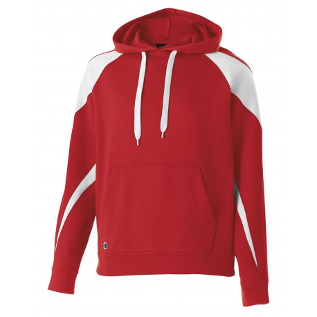229646 Holloway 229646 Youth Prospect Athletic Fleece Hoodie SCARLET/ WHITE