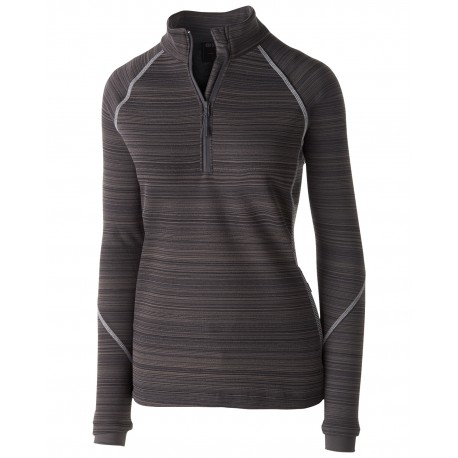 229741 Holloway 229741 Ladies' Dry-Excel Bonded Polyester Deviate Pullover CARBON