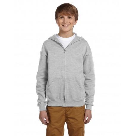 993B Jerzees 993B Youth 8 oz. NuBlend Fleece Full-Zip Hood ASH
