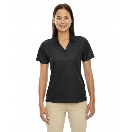 75115 Extreme 75115 Ladies' Eperformance Launch Snag Protection Striped Polo BLACK 703
