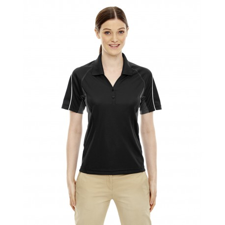 75110 Extreme 75110 Ladies' Eperformance Parallel Snag Protection Polo with Piping BLACK 703