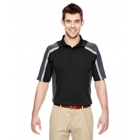 85119 Extreme 85119 Men's Eperformance Strike Colorblock Snag Protection Polo BLACK 703