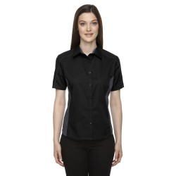 North End 77042 Ladies' Fuse Colorblock Twill Shirt