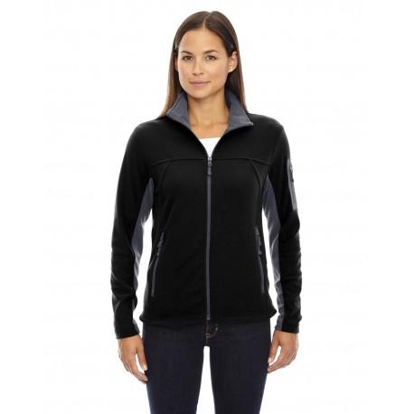 78048 North End 78048 Ladies' Microfleece Jacket BLACK 703