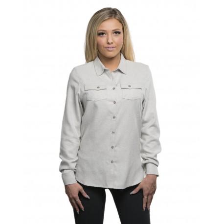 B5200 Burnside B5200 Ladies' Solid Flannel Shirt STONE