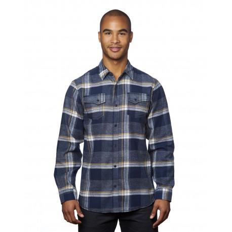 B8219 Burnside B8219 Men's Snap-Front Flannel Shirt INDIGO