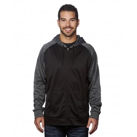 B8660 Burnside B8660 Men's Performance Hooded Sweatshirt BLACK/ CHARCOAL