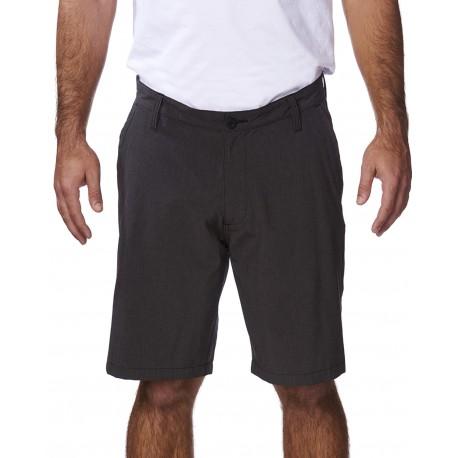 B9820 Burnside B9820 Men's Hybrid Stretch Short HEATHER/ BLACK