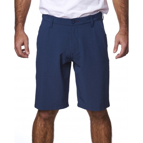 B9820 Burnside B9820 Men's Hybrid Stretch Short HEATHER NAVY