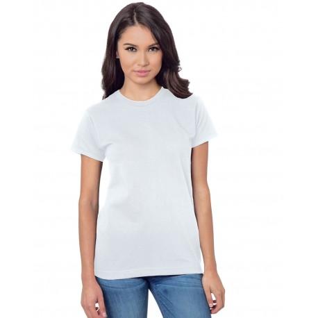 BA3075 Bayside BA3075 Ladies' Union-Made 6.1 oz., Cotton T-Shirt WHITE
