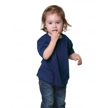 BA4125 Bayside BA4125 Toddler 5.4 oz., 100% Cotton T-Shirt DARK NAVY