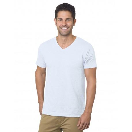 BA5025 Bayside BA5025 Unisex 4.2 oz., Fine Jersey V-Neck T-Shirt WHITE