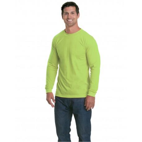 BA5360 Bayside BA5360 Unisex 4.5 oz., 100% Polyester Performance Long-Sleeve T-Shirt LIME GREEN