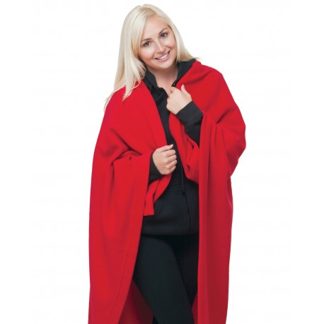 BA9000 Bayside BA9000 Polyester Stadium Fleece Blanket RED